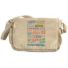 Waterskiing Gift Messenger Bag