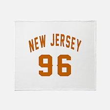 New Jersey 96 Birthday Designs Throw Blanket