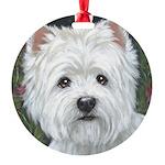 Sweetpea Westie Round Ornament