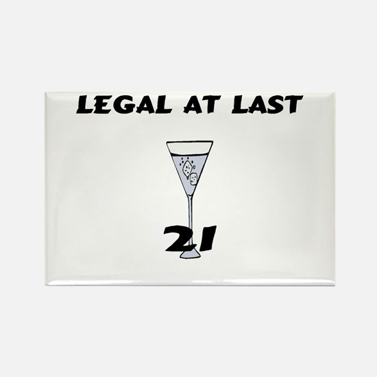 Legal At Last Rectangle Magnet