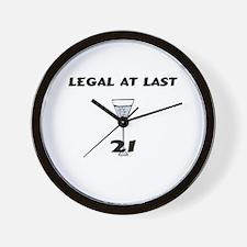 Legal At Last Wall Clock
