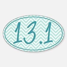13.1 Blue Chevron Sticker (Oval)