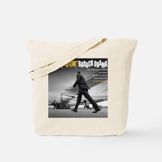 Barack Obama COOL STRUTTIN' Jazz Album Cover Tote