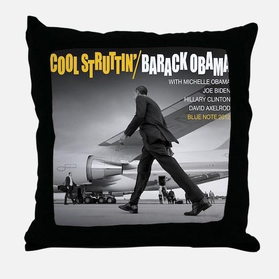 Barack Obama COOL STRUTTIN' Jazz Album Cover Throw