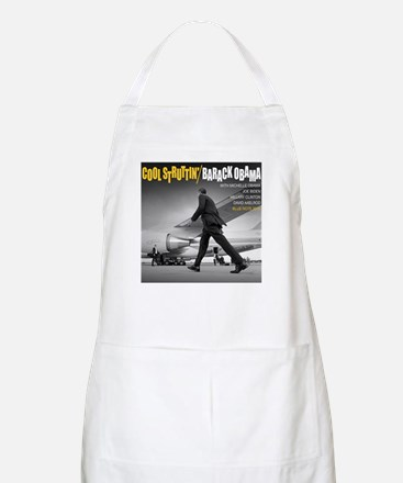 Barack Obama COOL STRUTTIN' Jazz Album Cover Apron