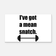 Mean Snatch Rectangle Car Magnet