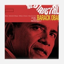 Barack Obama INDESTRUCTIBLE Jazz Album Cover Tile