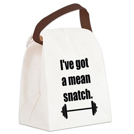 Mean Snatch Canvas Lunch Bag