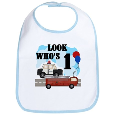 Everyday Heroes 1st Birthday Bib
