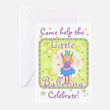 Little Ballerina Birthday Invitations