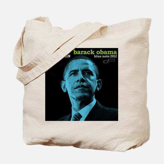 Barack Obama HOPE TRAIN Jazz Album Cover Tote Bag