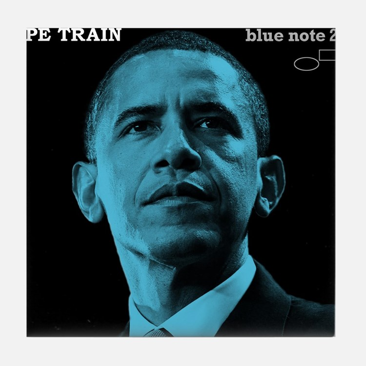 Barack Obama HOPE TRAIN Jazz Album Cover Tile Coas
