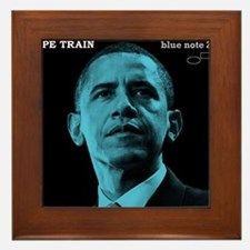 Barack Obama HOPE TRAIN Jazz Album Cover Framed Ti