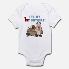 I Love Sports 1st Birthday Infant Creeper
