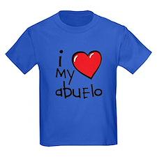 I Love My Abuelo Kids T-Shirt (Dark)