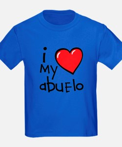 I Love My Abuelo Kids T-Shirt (Dark)