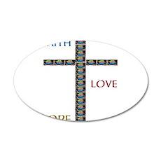 OYOOS Faith,Love,Hope design Wall Decal