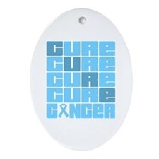 CURE Prostate Cancer Collage Ornament (Oval)
