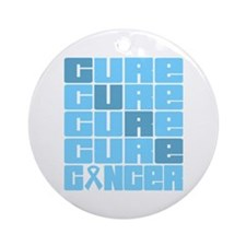 CURE Prostate Cancer Collage Ornament (Round)