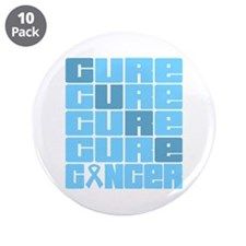 """CURE Prostate Cancer Collage 3.5"""" Button (10 pack)"""
