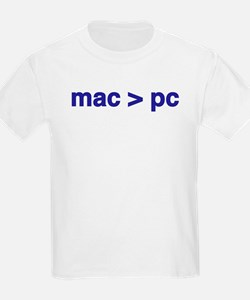 mac > pc - Kids T-Shirt