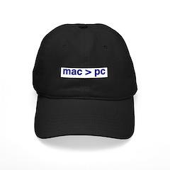 mac > pc - Baseball Hat