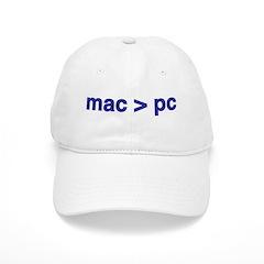 mac > pc - Baseball Cap