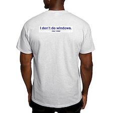 mac > pc - Ash Grey T-Shirt