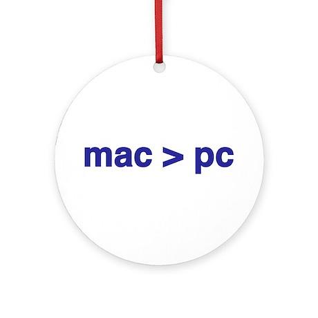 mac > pc - Ornament (Round)