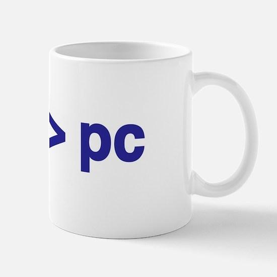 mac > pc - Mug