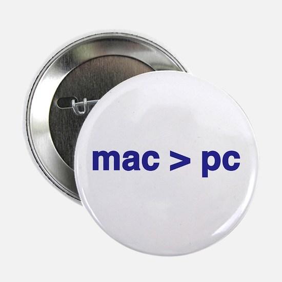 mac > pc - Button (10 pack)