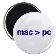 mac > pc - Magnet (10 pack)