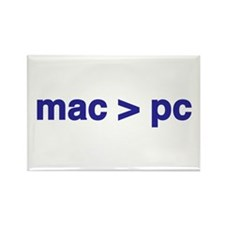 mac > pc - Rectangle Magnet