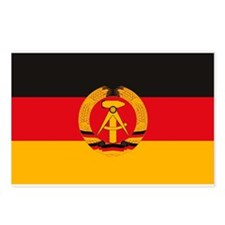 East Germany Flag Postcards (Package of 8)
