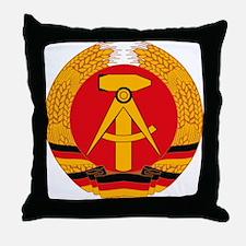 East German Coat of Arms Throw Pillow
