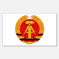 East German Coat of Arms Rectangle Decal