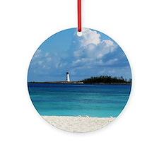 Nassau Bahamas Beach Lighthouse Ornament (Round)
