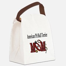 American Pit Bull Mom Canvas Lunch Bag
