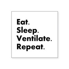 "Respiratory Therapy Square Sticker 3"" x 3"""