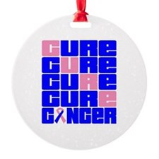 CURE Male Breast Cancer Collage Ornament