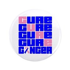 """CURE Male Breast Cancer Collage 3.5"""" Button (100 p"""