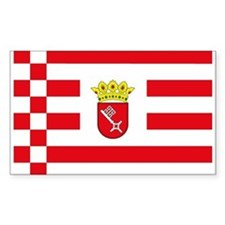 Bremen Flag Rectangle Decal