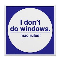Mac Rules - Tile Coaster