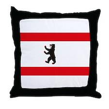 Berlin Flag Throw Pillow