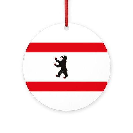 Berlin Flag Ornament (Round)