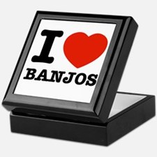 I Love Banjos Keepsake Box