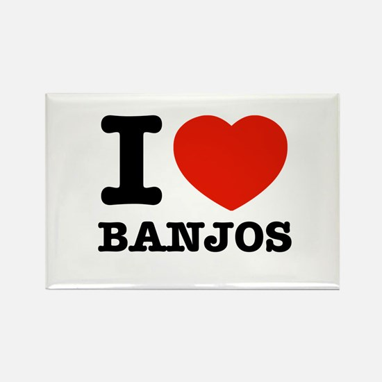 I Love Banjos Rectangle Magnet