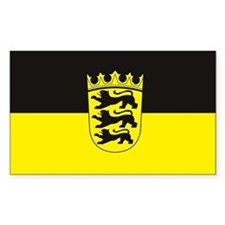 Baden Wurttemberg Flag Rectangle Decal