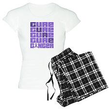 CURE Hodgkins Lymphoma Collage pajamas