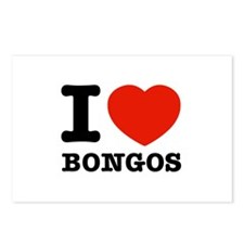 I Love Bongos Postcards (Package of 8)